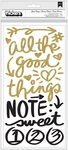All The Good Things Gold Glitter Phrase Thickers - Vivki Boutin