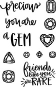 "You're A Gem - Neat & Tangled Clear Stamps 4""X6"""