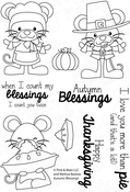 "Autumn Blessings - Pink & Main Clear Stamps 4""X6"""