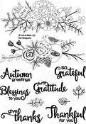 "Fall Bouquets - Pink & Main Clear Stamps 4""X6"""
