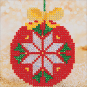 "Red Bauble - Diamond Dotz Diamond Embroidery Facet Art Kit 8""X8"""