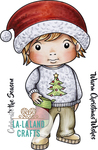 "Christmas Sweater Luka - La-La Land Cling Stamps 4.5""X3.5"""