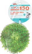 """Green - ASPCA 5"""" Dental Ball Dog Toy"""