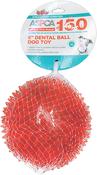 "Orange - ASPCA 5"" Dental Ball Dog Toy"