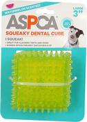 "Green - ASPCA 3"" Squeaky Dental Cube Dog Toy"