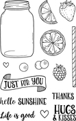 "Life Is Good - Jane's Doodles Clear Stamps 4""X6"""