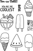"""Cool - Jane's Doodles Clear Stamps 4""""X6"""""""