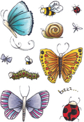 Bugs & Butterflies - Elizabeth Crafts Clear Stamps