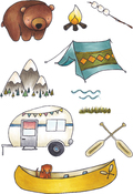 Camping Out - Elizabeth Crafts Clear Stamps