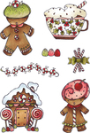 Candy Land - Elizabeth Crafts Clear Stamps