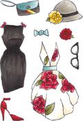 Fashions 2 - Elizabeth Crafts Clear Stamps