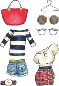 Fashions 3 - Elizabeth Crafts Clear Stamps