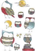 Give A Hoot - Elizabeth Crafts Clear Stamps