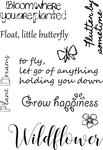 Plant, Grow & Bloom - Elizabeth Crafts Clear Stamps