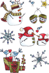 Snowman & Gifts - Elizabeth Crafts Clear Stamps