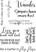 Summer Sentiments - Elizabeth Crafts Clear Stamps