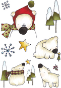 Winter Bears - Elizabeth Crafts Clear Stamps