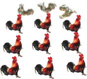 Rooster - Eyelet Outlet Shape Brads 12/Pkg