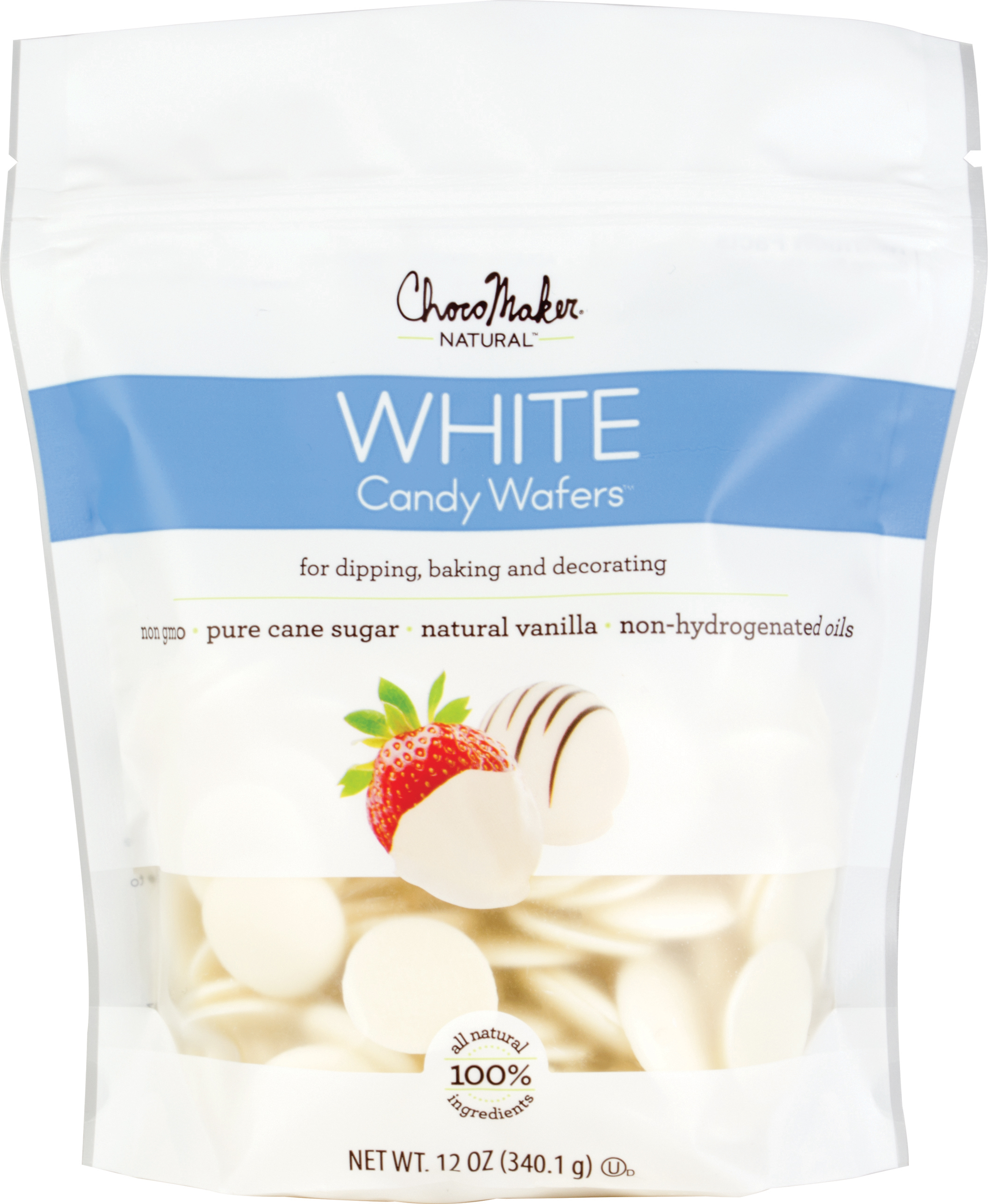 Vanilla - ChocoMaker(R) Natural Chocolate Candy Wafers 12oz Pouch