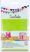 Assorted Colors - ChocoMaker(R) Edible Wafer Paper Candy Sheets 12 Sheets/pkg