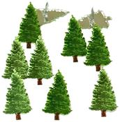 Pine Tree - Eyelet Outlet Shape Brads 12/Pkg