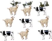 Cow & Goat - Eyelet Outlet Shape Brads 12/Pkg