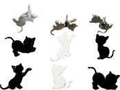 Kitten - Eyelet Outlet Shape Brads 12/Pkg