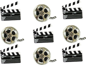 Movie - Eyelet Outlet Shape Brads 12/Pkg