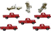 Red Truck - Eyelet Outlet Shape Brads 12/Pkg
