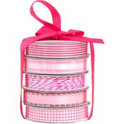 Spring Pink Premium Ribbon & Twine Pack - American Crafts