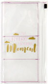 Enjoy Every Moment Clear Shaker Pouch - Prima