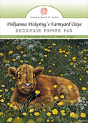 Farmyard Days, 8 Designs/10ea - Pollyanna Pickering A6 Decoupage Pad 80/Pkg