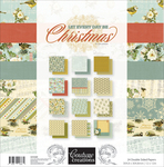 "Let Every Day Be Christmas - Couture Creations Double-Sided Paper Pad 12""X12"" 24/Pkg"