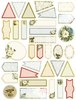 Mini Tags 33/Pkg - Couture Creations Let Every Day Be Christmas A4 Stickers