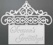 """Hanging Greetings - Couture Creations Let Every Day Be Christmas Die 2.7""""X2.5"""""""