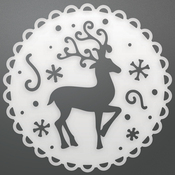 """Reindeer Medallion - Couture Creations Let Every Day Be Christmas Die 3.1""""X3.1"""""""