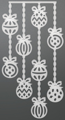 """Dangling Baubles - Couture Creations Let Every Day Be Christmas Die 3.9""""X2"""""""