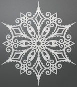 """Snowflake Doily - Couture Creations Let Every Day Be Christmas Die 4.2""""X3.7"""""""