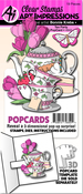 Tea Party - Art Impressions PopCard Clear Stamp & Die Set