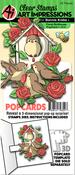 Floral Birdhouse - Art Impressions PopCard Clear Stamp & Die Set