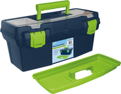 "15.9""X8""X7"" Blue & Green - Pro Art Storage Box W/Organizer Top"
