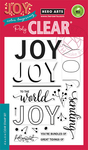 "Color Layering Joy Message - Hero Arts Clear Stamps 4""X6"""