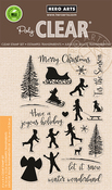 "Winter Silhouettes - Hero Arts Clear Stamps 4""X6"""