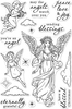 "Angels - Hero Arts Clear Stamps 4""X6"""