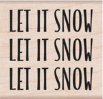 "Let It Snow - Hero Arts Mounted Rubber Stamp 2""X1.375"""