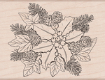 "The Holly & The Ivy - Hero Arts Mounted Rubber Stamp 4.25""X3.25"""