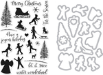 Winter Silhouettes - Hero Arts Clear Stamp & Die Combo