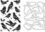 Bird Words - Hero Arts Clear Stamp & Die Combo