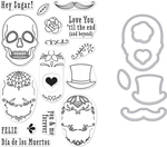 Sugar Skulls - Hero Arts Clear Stamp & Die Combo