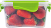 Clear/Lime - Rimax Food Storage Container 41oz Rimax containers are a great solution for your food storage needs. Locking lids keep your leftovers from spilling and your fresh foods fresh. Dishwasher, freezer and microwave safe. This package contains one 5.5x5.5x3 inch (41oz) food storage container. Imported.
